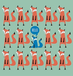 card with foxes Be unique vector image vector image