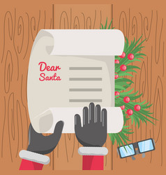 Christmas wish list design vector