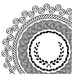 Circular pattern set vector