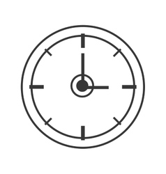 Clock time silhouette design vector