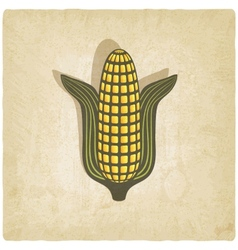 Corn symbol on old background vector