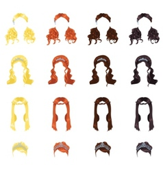 female hair vector image vector image