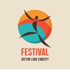 Festival - logo concept vector image