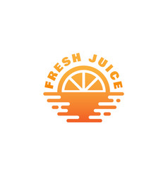 fresh juice logo vector image