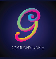 G letter logo icon blending color vector