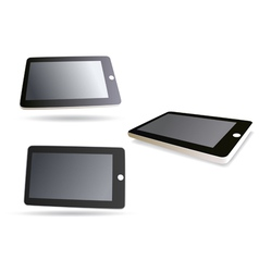 isolated tablet computer - set vector image