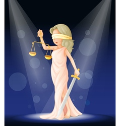 Lady Justice Stage vector image vector image
