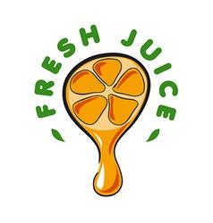 logo drop of juice from the orange vector image
