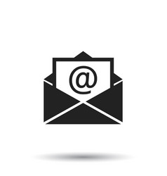Mail envelope icon isolated on white background vector
