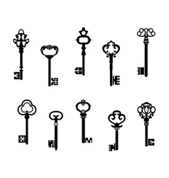 Old antique keys vector image