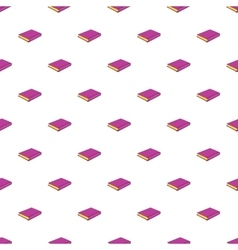 Pink book pattern cartoon style vector
