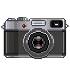 Pixel retro photo camera isolated vector image vector image