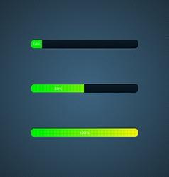 Progress loading bar vector