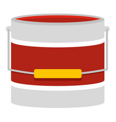 red paint bucket icon isolated vector image