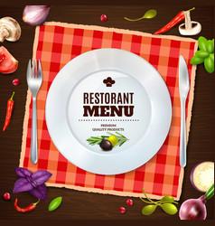 Restaurant menu realistic composition backgroud vector