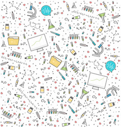Science medical seamless pattern vector