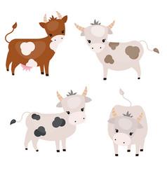 Set of cute cows set of cute cows vector