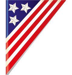 United states flag frame vector