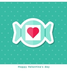 Valentine day icon in flat style vector image vector image