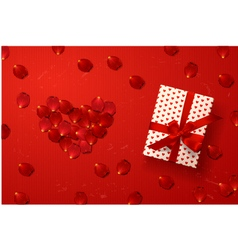 Valentines card gift box vector image vector image