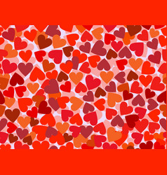 valentines day seamless pattern with hearts vector image vector image