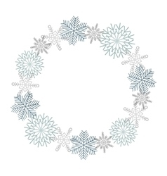 Winter snowflakes wreath vector