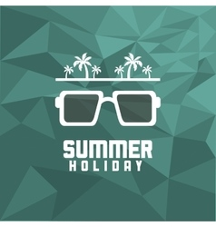 Glasses summer holiday vacation icon vector
