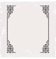 calligraphic ornate vintage frame border vector image