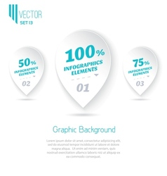 Three icons with text for infographic vector