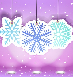 Christmas with snoflakes vector image