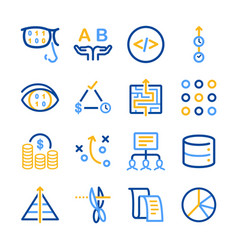 Analytics icons set vector