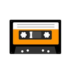 Audio cassette tape isolated on white vector