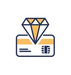 Premium card - modern line design icon vector