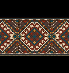 Traditional tribal aztec seamless pattern vector