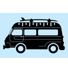 Surf bus silhouette vector