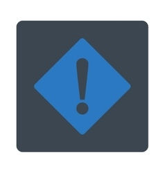 Error flat smooth blue colors rounded button vector