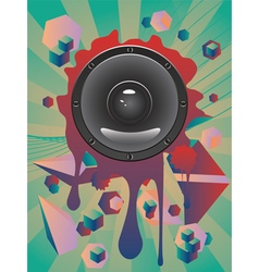 Abstract audio speaker2 vector
