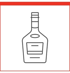 Alcohol bottle icon vector
