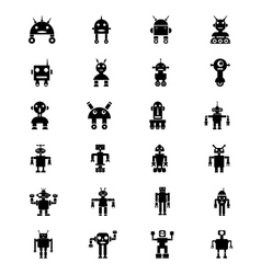 Robots icons 1 vector