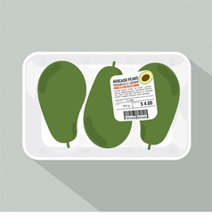 Avocado pack vector