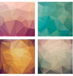 A set of polygonal backgrounds vector
