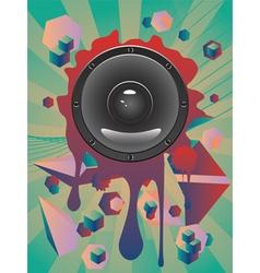 Abstract Audio Speaker2 vector image vector image