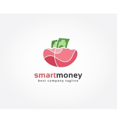 Abstract money logo icon concept Logotype template vector image