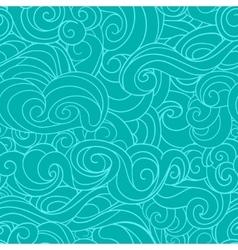 Blue waving curls similar to winter frosty window vector image
