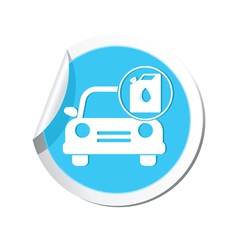Cars oil canister blue label vector
