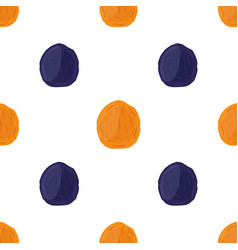 Dried apricots and prunes seamless pattern vector