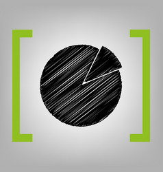 Finance graph sign black scribble icon in vector