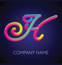 h letter logo icon blending color vector image vector image