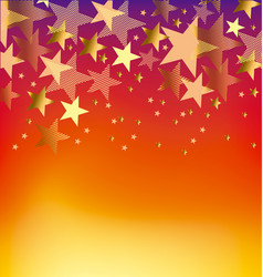 hot color summer poster vector image