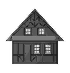 House single icon in monochrome stylehouse vector